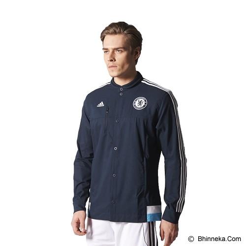 ADIDAS Chelsea FC Anthem Jacket Size M [M36323] - Dark Marine - Jaket Casual Pria